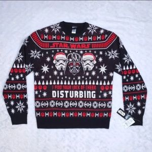 Star Wars Mens Large Ugly Christmas Sweater NEW